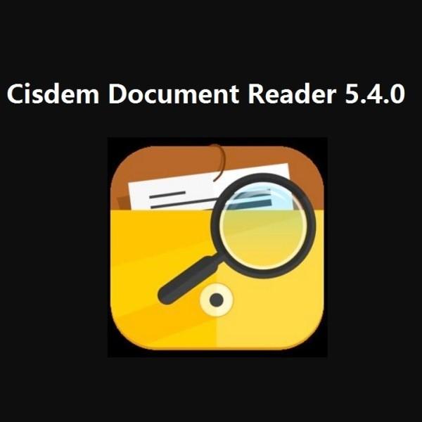 Cisdem Document Reader 5.4.0