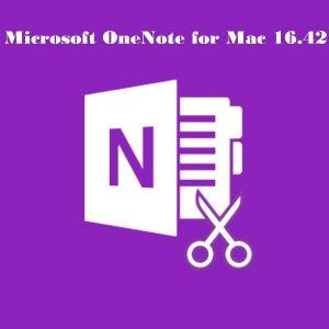 Microsoft OneNote for Mac 16.42